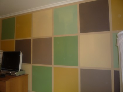 Feature wall - squares