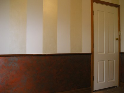 Feature wall - stripes