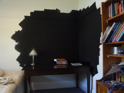 Feature wall - blackboard