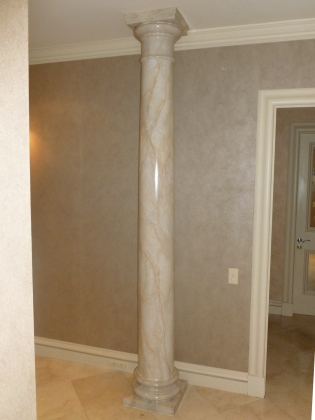 This marble column makes a stunning feature as you enter the foyer.